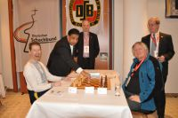 First move by Bharat Singh Chief Executive Officer of the Indian Chess Federation Chairman FIDE Technical Commission - Kopie